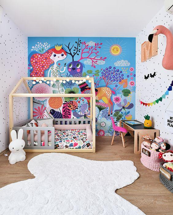 quarto colorido de unicornio
