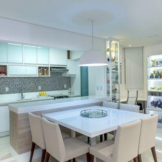 cozinha planejada clean  branca