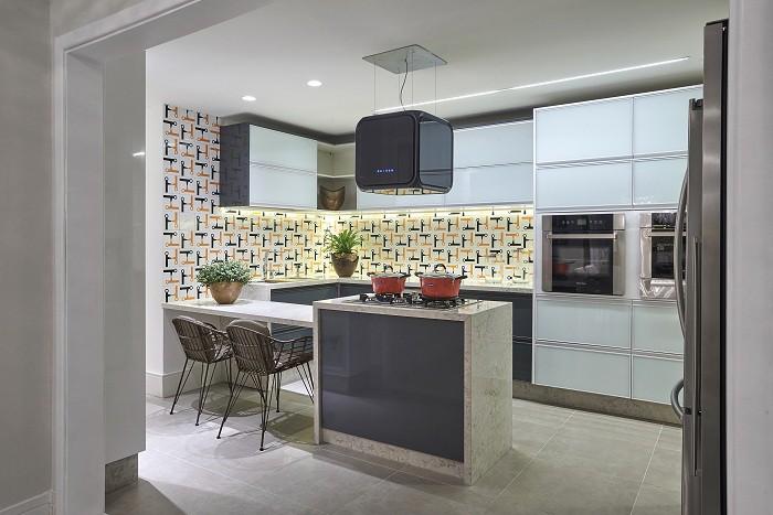 cozinha com ilha para cooktop