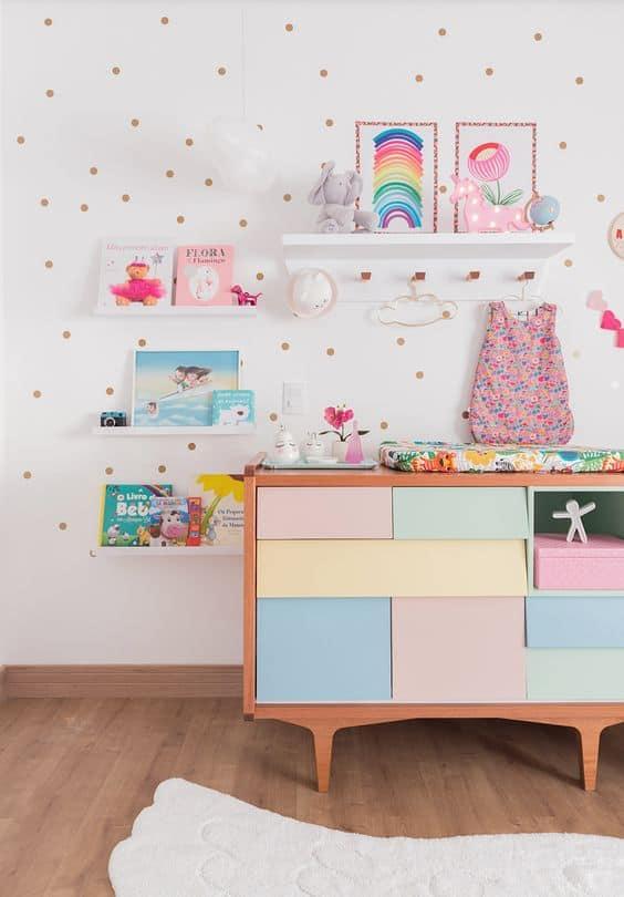 decoracao simples quarto de menina unicornio