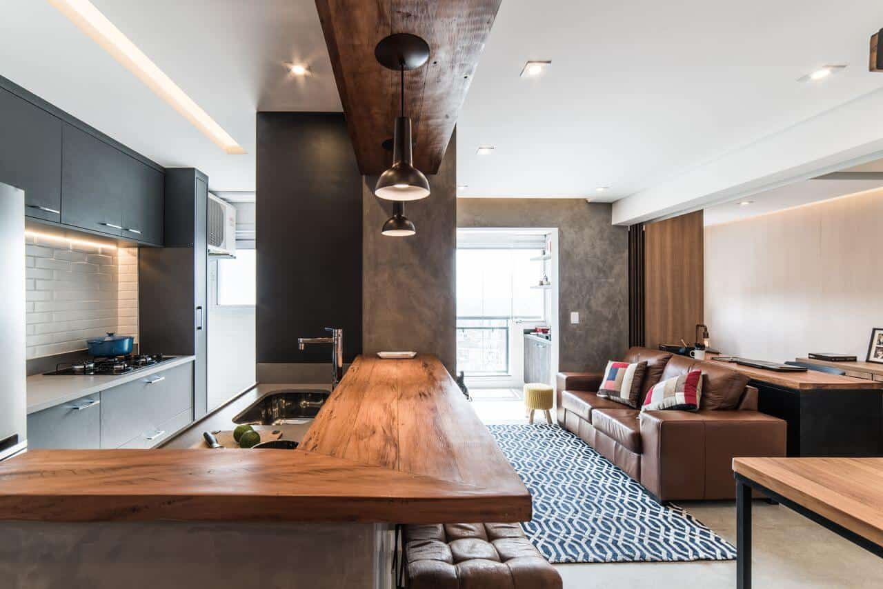 ideias de bancadas de cozinha de madeira