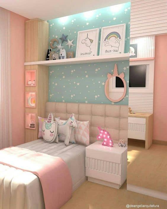 decoracao de unicornio menina quarto