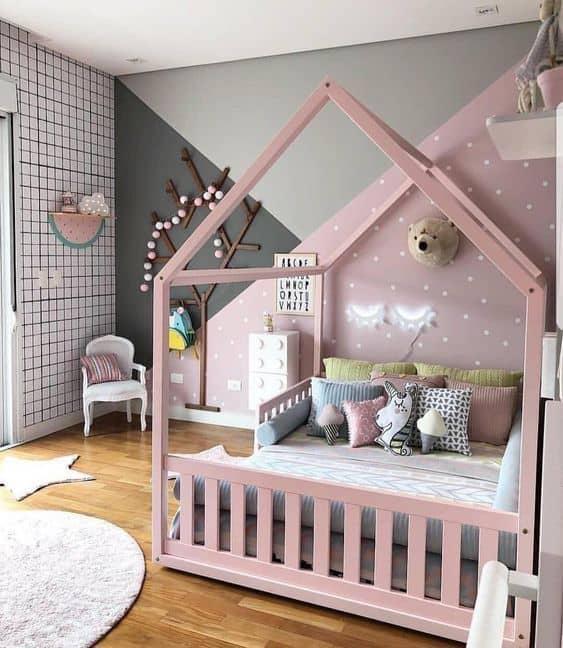 quarto moderno de menina