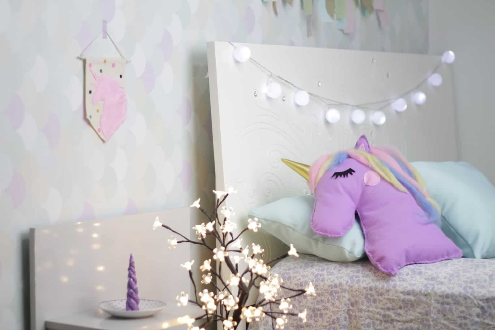 como decorar o quarto de menina unicornio