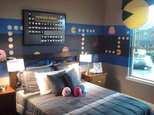 Quarto decorado Pacman