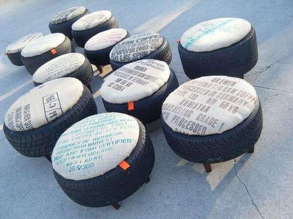 ideias para fazer puff de pneu moderno