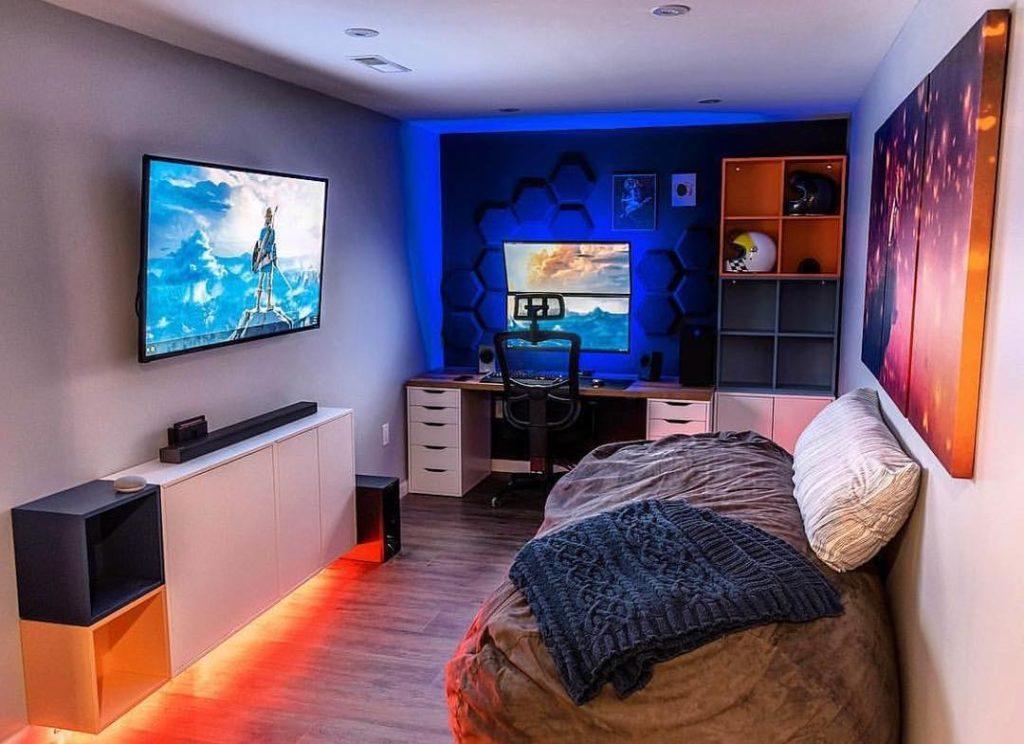 quarto adolescente gamer