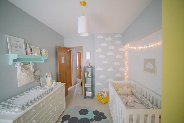 lindo quarto de bebe nuvens