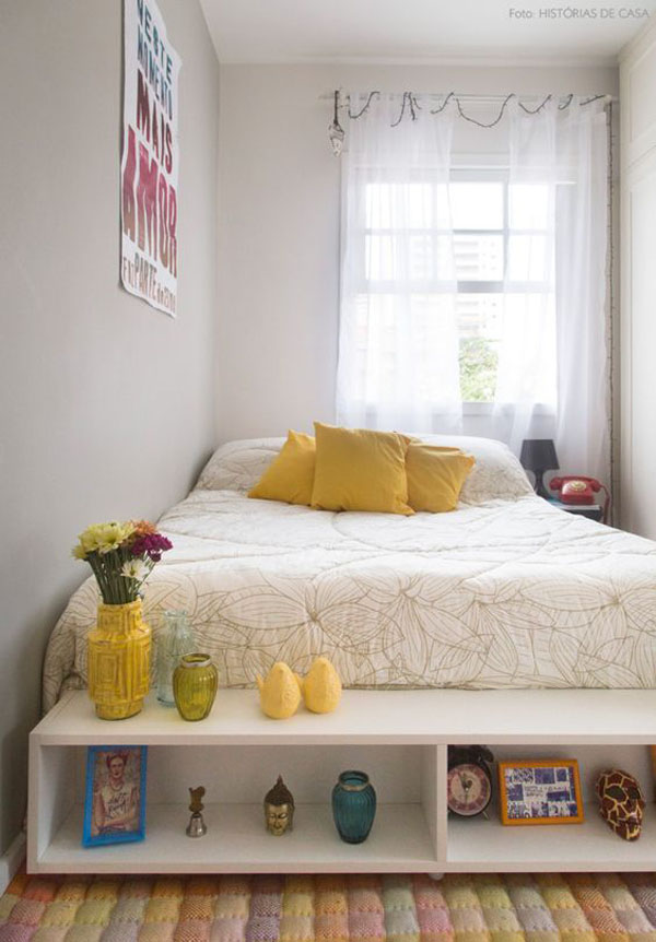 Decoração de quarto pequeno simples e charmoso