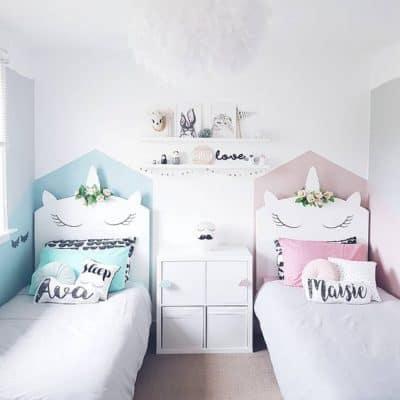 cama de unicornio quarto delicado