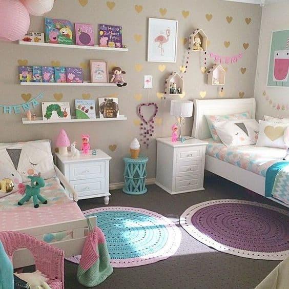 quarto para duas meninas unicornio