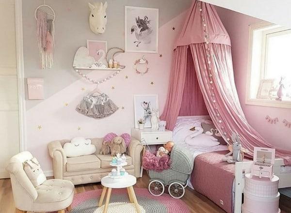 quarto de menina com decoracao de princesa