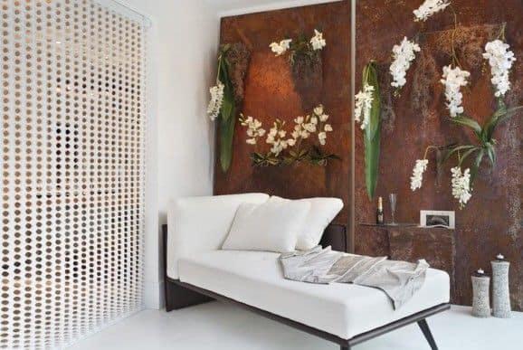 Painel com orquídeas nas paredes, decoração moderna para varandas ou salas de estar