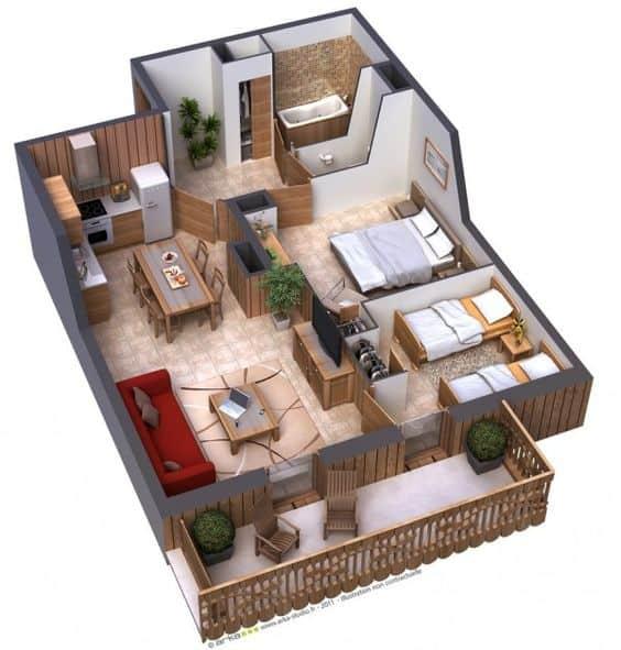 50 modelos de plantas de casas pequenas