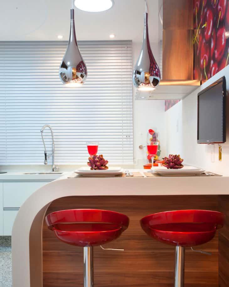 como usar persiana na cozinha