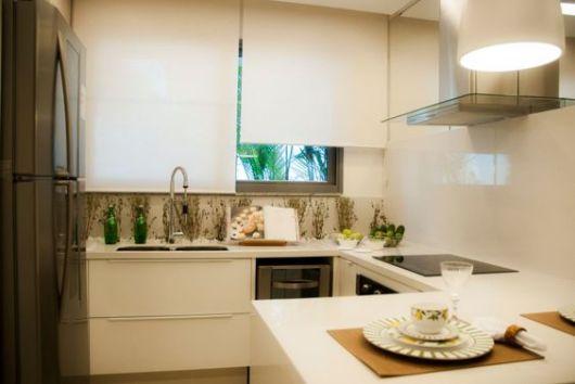 persiana rolo na cozinha