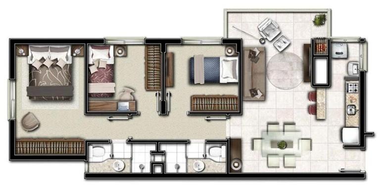 Casa com planta tipo apartamento