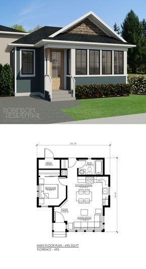 Projeto de casa com 1 quarto e banheiro com banheira