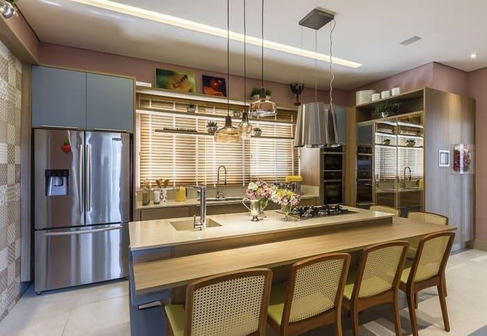 persiana na cozinha como usar