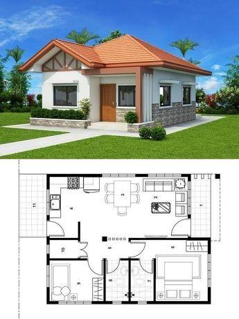 Projeto de casa com fachada simples