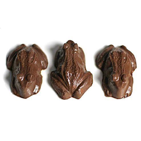 Sapos de chocolate comestíveis