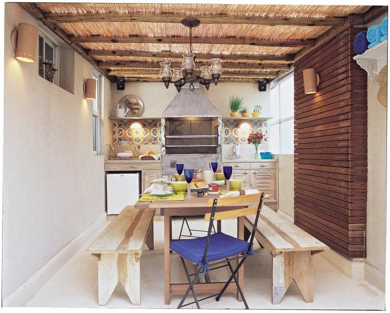 Área gourmet rústica feita
