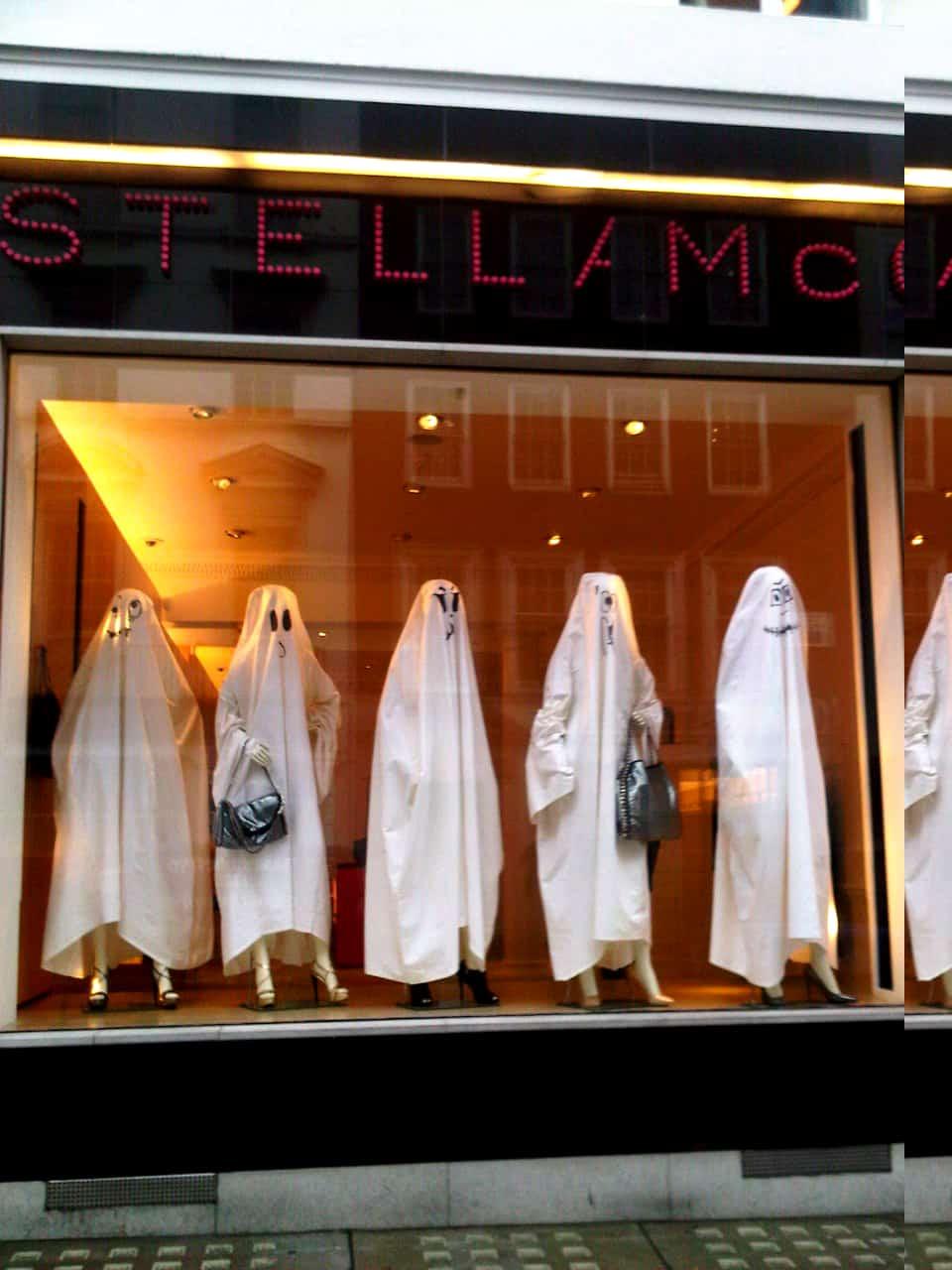 vitrine criativa halloween