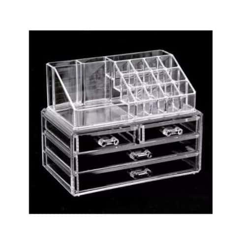 caixa para maquiagem e joias de acrilico