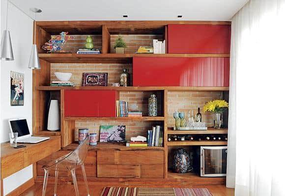 como usar vermelho no home office
